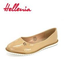 Купить с кэшбэком Hellenia Shoes Women Flats Spring Summer Flat Shoes Woman Moccasins patent pu