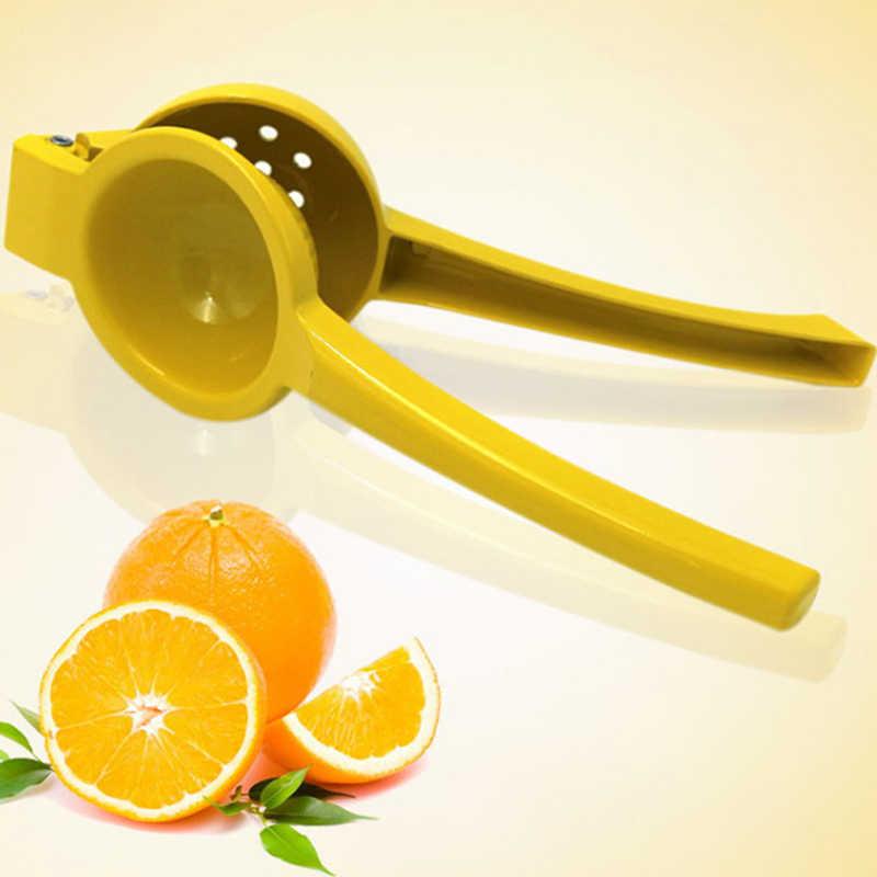1 個の m (色ランダムに送信される) orange/緑/黄色の金属 Lemon と orange フルーツプレスジューサー