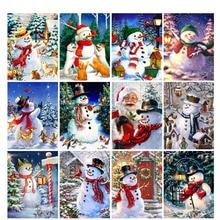 5D Diy Diamond Painting Cross Stitch Christmas snowman Home Decor Full Rhinestones Inlay Diamond Embroidery calla lily 5d diy diamond painting diy diamond embroidery flower full diamond inlay home decor