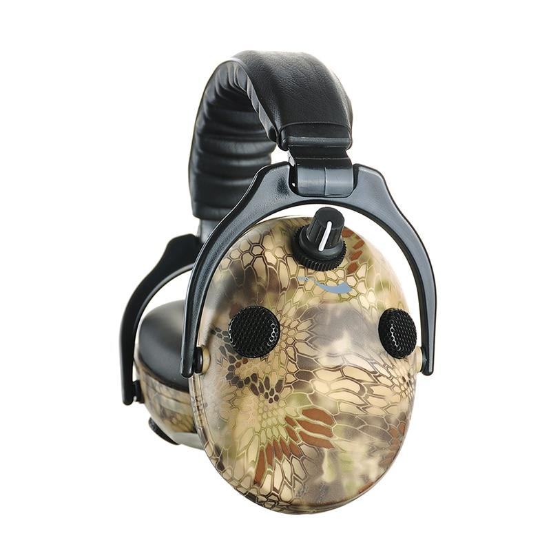 Electrónico de tiro protección del oído orejera caza orejeras camuflaje táctico protector auditivo auriculares para caza