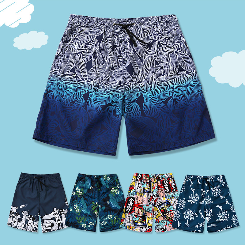 Casual Beach   Shorts   Men Quick-dry Print Swimming   Shorts   For men Summer   Board   couple swimsuit sunga masculina plus large size
