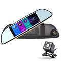 "New 6.86"" Vehicles Car DVR Camera GPS Navigation Parking Rearview Mirror  Dash Cam FHD 1080P  Dual Lens Video Recorder 16GB ROM"