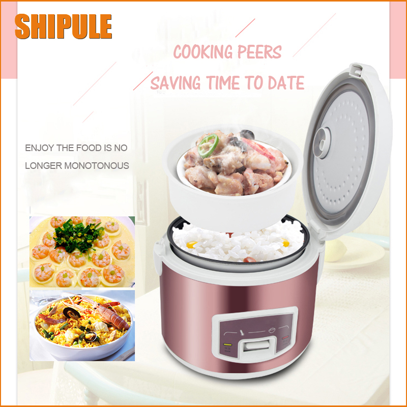 SHIPULE Rice Cooker Electric 220V-240V 500w 3L Multifunction Cooker Mini Rice Lunch Box Suited For 2-4 People Smart Cooker