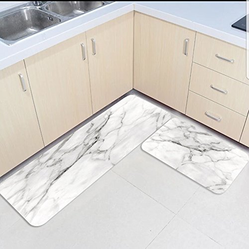 2 Piece Kitchen Mats and Rugs Set Marbled Texture Road Home Deocr Non Skid Area Runner Doormats Carpet2 Piece Kitchen Mats and Rugs Set Marbled Texture Road Home Deocr Non Skid Area Runner Doormats Carpet