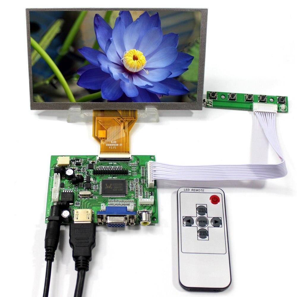 все цены на HDMI VGA 2AV LCD Controller Board + 6.5inch AT065TN14 800x480 LCD Screen онлайн