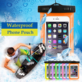 For 3-6.5inch Waterproof Pouch Case for iPhone Cool Style PVC Waterproof Bag for Mobile Phone Clear Water Resistant Phone Pouch