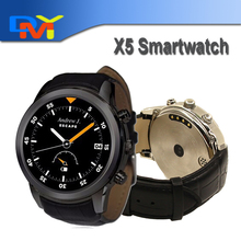 "X5 Android 4.4 SmartWatch 1,4 ""Amoled-display 3G WiFi GPS Dual Bluetooth Smart Uhr Telefon für iOS Android-Handy"