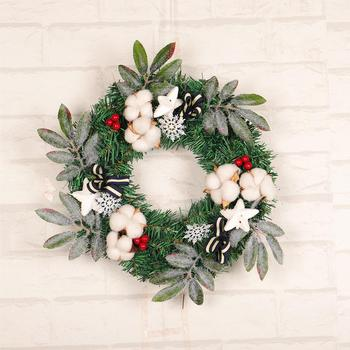 christmas wreath 40cm door hanging art rattan reed wreath garland xmas decoration ornaments party supplies artificial flower - Hanging Garland Christmas Decorations