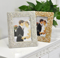Wide border wedding photo frame with crystals Decorative photo frame Wedding picture frames Home decoration Wedding gifts