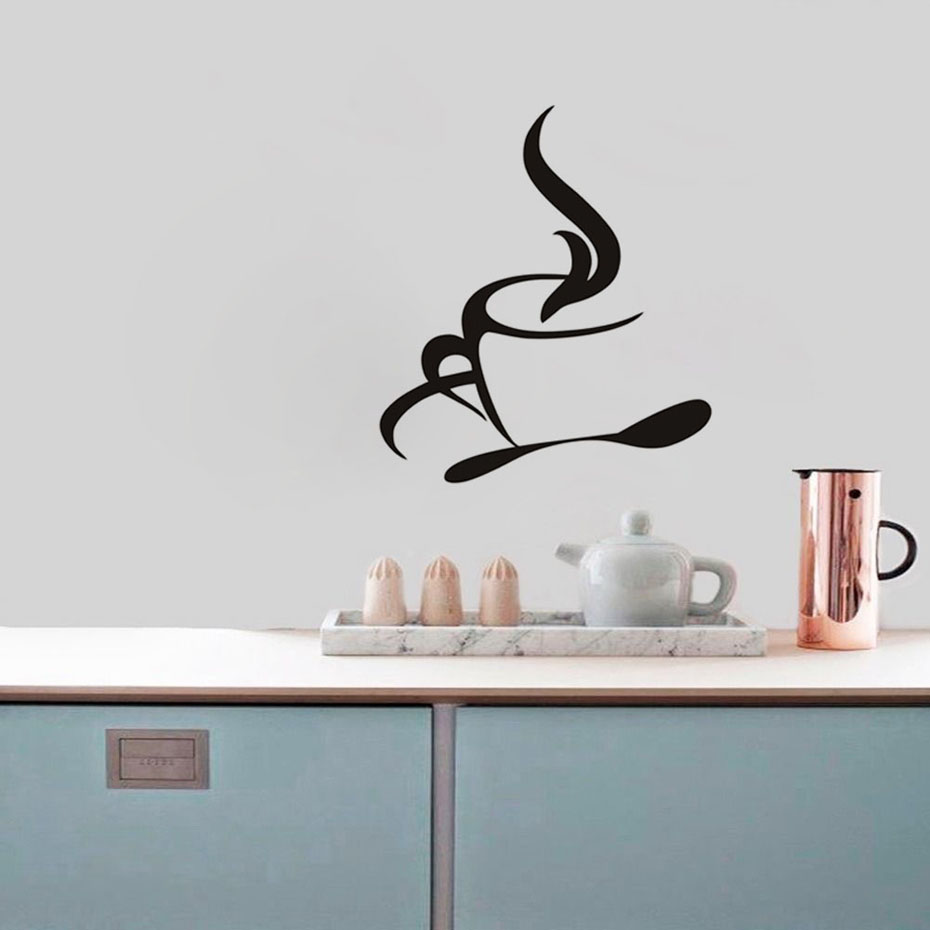 Coffee wall art stickers kamos sticker aliexpress hot coffee wall art stickers vinyl kitchen amipublicfo Images