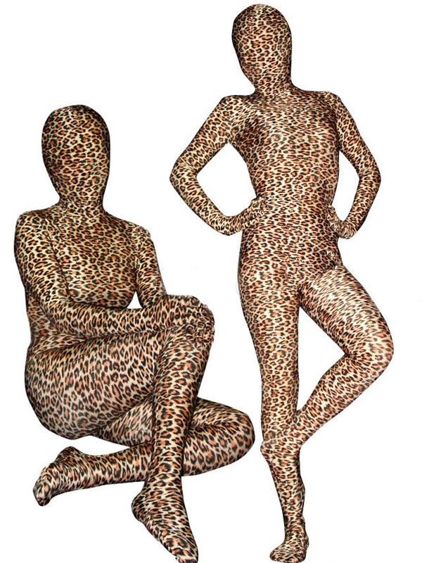(AL981) BetterParty Lycra Spandex Hot Sale Leopard Costume Animal Zentai Full Body Cosplay Suit  Fetish Zentai Wear