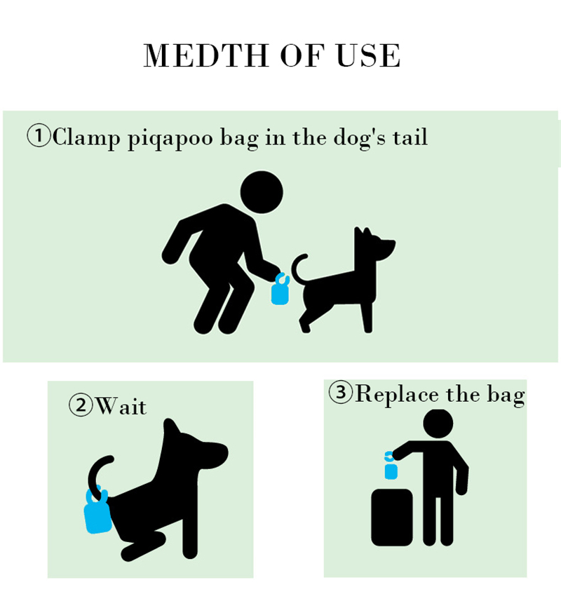 Pet Poop Bag With Tail Clip - Pet Toilets Holder with 20Pcs Garbage Bags 10