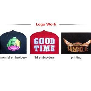 Image 3 - Zefit benutzerdefinierte kappe snap strap auf back headwear flache krempe custom design 3D logo kleine auftrag freies verschiffen kunden baseball hut