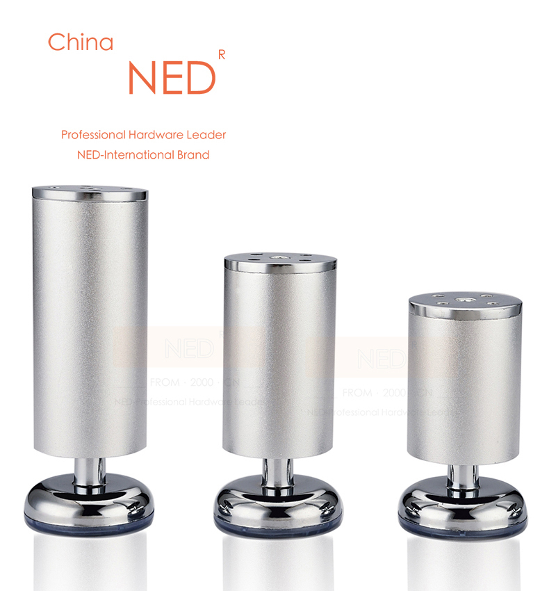 4PCS NED 10CM Height Space Aluminum Furniture Legs Solid Table Cabinet  Metal Foot Furniture Sofa TV Bed Feet With Screws In Furniture Legs From  Furniture On ...
