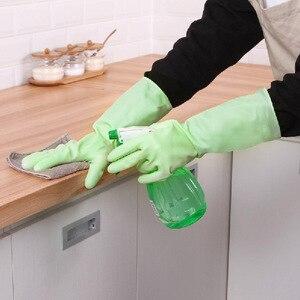 Image 3 - 1 쌍 높은 학년 Antiskid 접시 세척 장갑 고무 청소 실리콘 장갑 주방 가구 쉬운 세척 손 보호 장갑