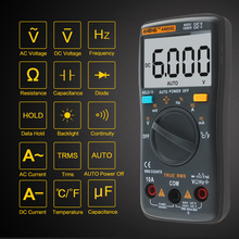 AN8002 Digital Multimeter 6000 Counts AC / DC Ammeter Voltmeter ohm Current Power Meter Temperature Electronic Test