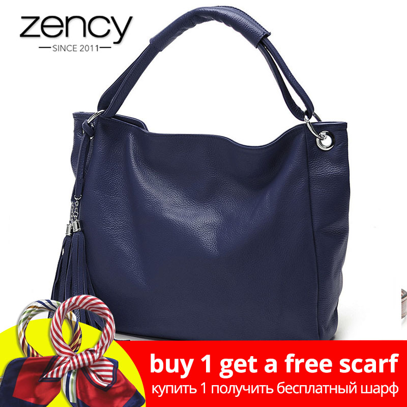Zency 10 Fashion Kleuren 100% Zacht Lederen Kwastje Dames Handtas Dames Schoudertassen Messenger Satchel Crossbody Purse