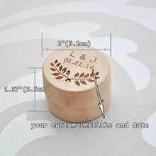 Custom Wooden Rustic Wedding Ring Box Holder