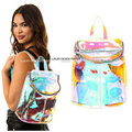 New Designer hologram rainbow effect Transparent backpack Clear  Purse IT bag Bolsa