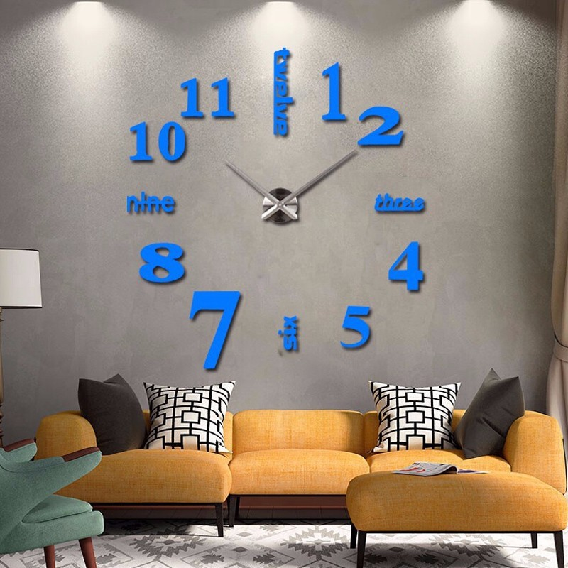 16 new arrival Quartz clocks fashion watches 3d real big wall clock rushed mirror sticker diy living room decor free shipping 7