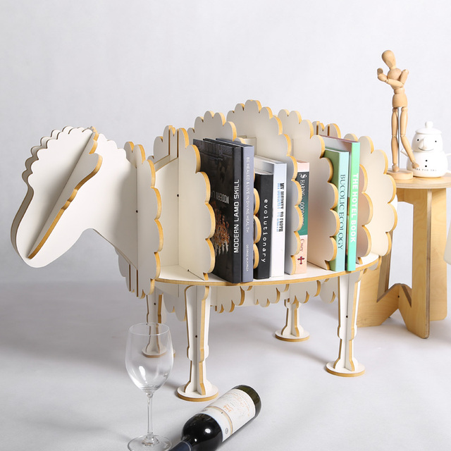 diy mdf furniture. 8 Colors Sheep Bookshelf Animal Furniture DIY Creative Wood Crafts Decoration For Household, Clubs, Diy Mdf