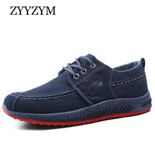 ZYYZYM Men Shoes Canvas Denim Lace-Up Fashion Breathable 2019 Spring Summer Casual
