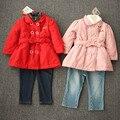 Новая девушка двубортный Зимнее пальто мода досуга теплый открытый хлопка мягкой одежда на продажу свободная перевозка груза