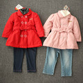 The new girl double-breasted Winter coat fashion leisure warm outdoor cotton-padded clothes on sale free shipping