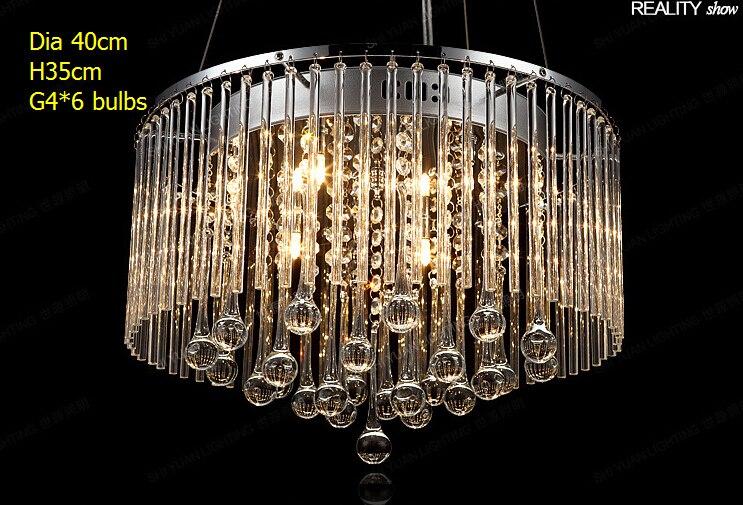 cheaper price clear glass water drop fancy modern round pendant light rectangle dinner g46 light corridor lamp