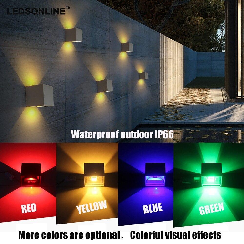 Ny 120-graders vattentät kub COB LED-lampa Vägglampa Moderna - Inomhusbelysning - Foto 6