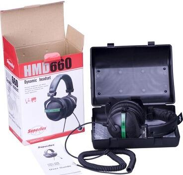 FREE SHIPPING Superlux HMD660E Professional Stereo Headphones with Incorporated Dynamic Microphone