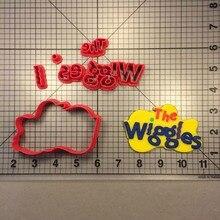 Мультяшная пленка, набор для резки печенья с логотипом, 3D напечатанная форма для кекса, инструменты для тортов