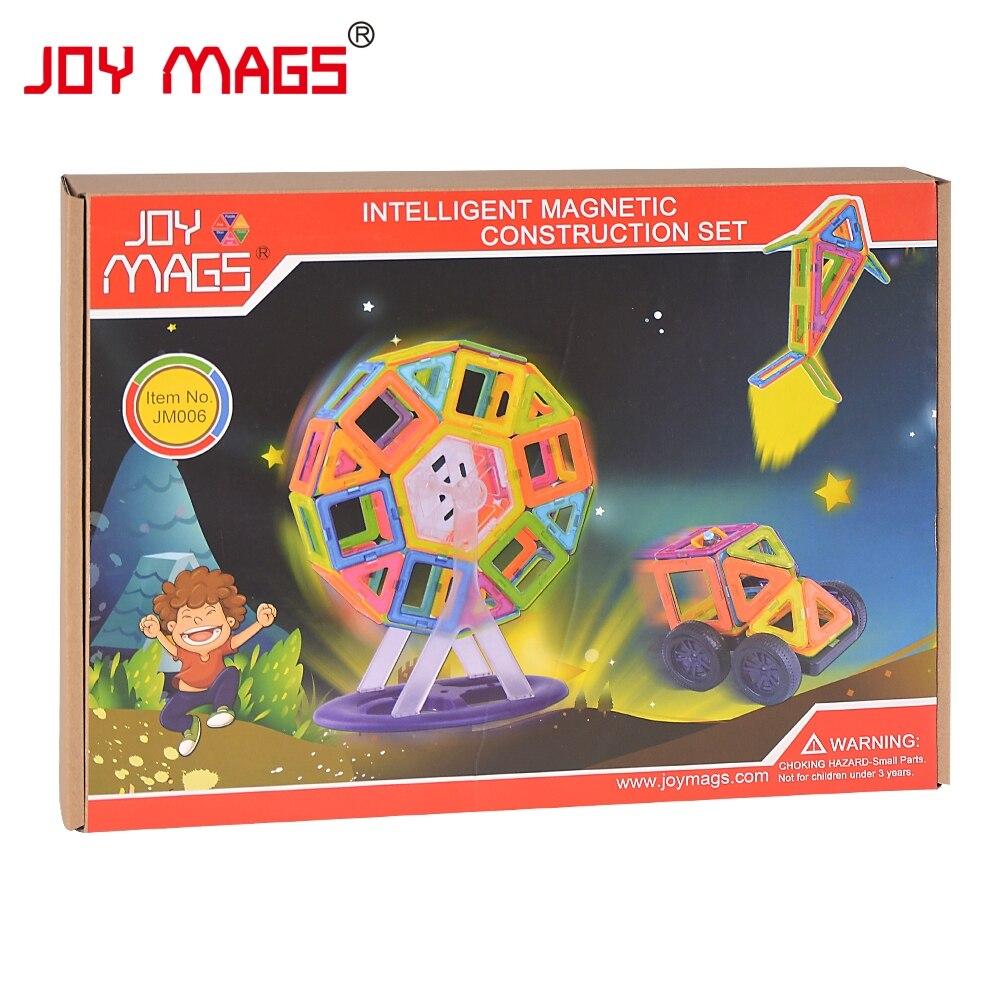 JOY MAGS Magneettisuunnittelulohko 89/102/149 kpl Rakennemallit Toy - Rakentaminen lelut - Valokuva 6