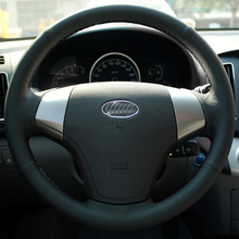 Special Real Leather Car Steering Wheel Cover Case with Needles and Thread for Hyundai Elantra Steering