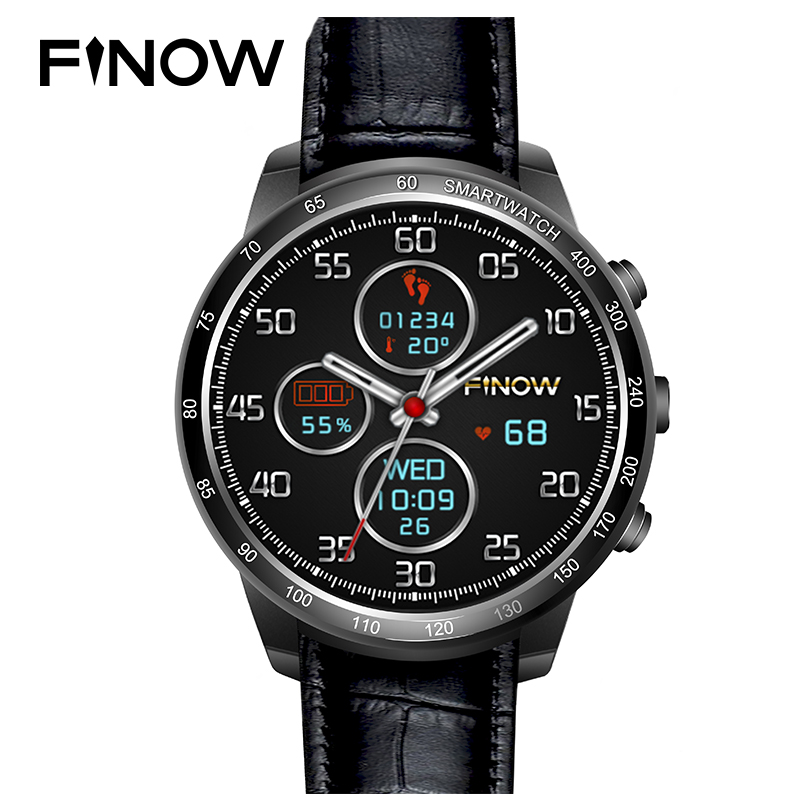 Finow Q7 plus smart watch Phone Android 5.1 MTK6580 Quad Core 3G Wifi BT with 0.3MP TF card SmartWatch Men for Android phone цена