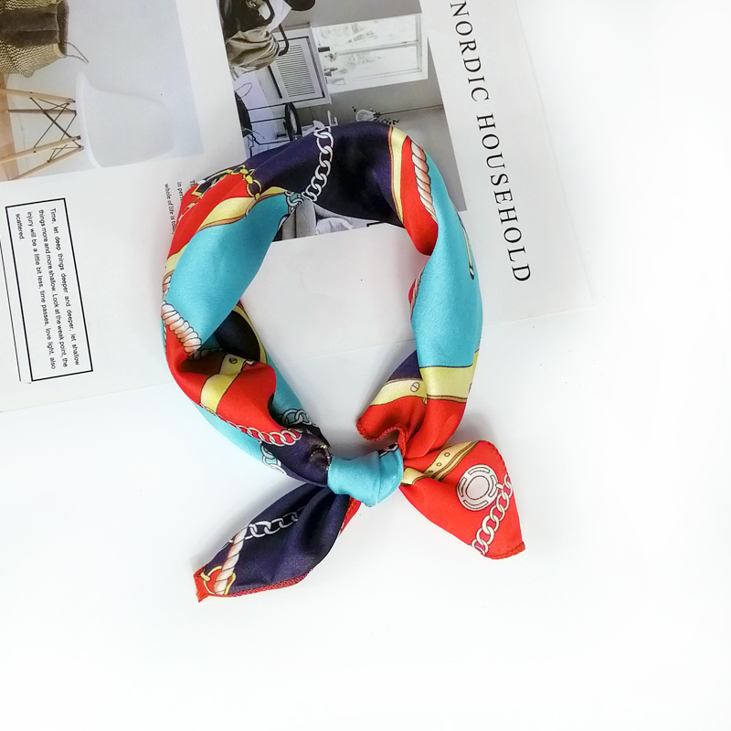 HTB1crMqeRCw3KVjSZFuq6AAOpXay - new style Square Scarf Hair Tie Band For Business Party Women Elegant Small Vintage Skinny Retro Head Neck Silk Satin Scarf