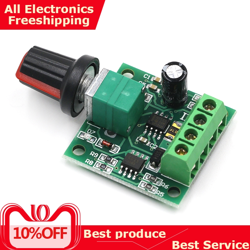 New DC 1.8V 3V 5V <font><b>6V</b></font> 12V 2A PWM <font><b>Motor</b></font> Speed Controller Low Voltage <font><b>Motor</b></font> Speed Controller PWM 0~100% Adjustable Drive Module image