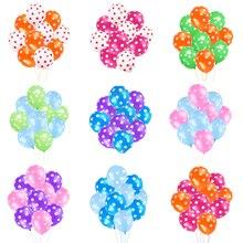 10 шт./партия латексные шары в горошек 2,8 г карамельных цветов круглые точки Свадебные украшения заготовки Детские вечерние шары для душа
