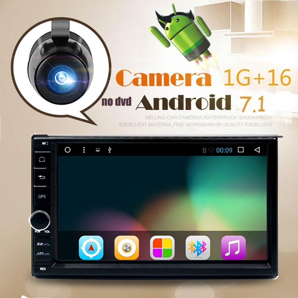 7 2Din 1024*600 Android 7,1 автомобилей нажмите Планшетные ПК 2 din универсальный для Toota gps навигации BT Радио стерео аудио плеер (нет DVD)