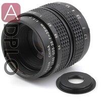 16mm C Lente de montagem 35mm f1.7 + C para NEX/Fuji/Micro M4/3/N1/ef M M2/Anel Adaptador Para DSLR Camera + Lente de Pentax Q Cap
