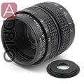 16mm c lente de montagem 35mm f1.7 + c para nex/fuji/micro m4/3/n1/ef m m2/anel adaptador pentax q para dslr camera + lens Cap