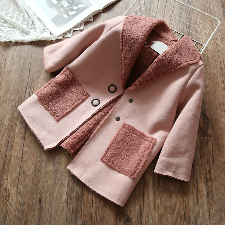 Kids Girls Clothes Winter Jackets Boys Baby Boys Trench for Boy Plus Velvet Lamb Coat for Girl Hooded Warm Coat Hooded Outwear winter jacket men warm coat mens casual hooded cotton jackets brand new handsome outwear padded parka plus size xxxl y1105 142f