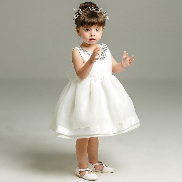 Bruiloft Jurk Meisje.Pasgeboren Doop Jurk Voor Baby Meisje Wit Eerste Verjaardagsfeestje