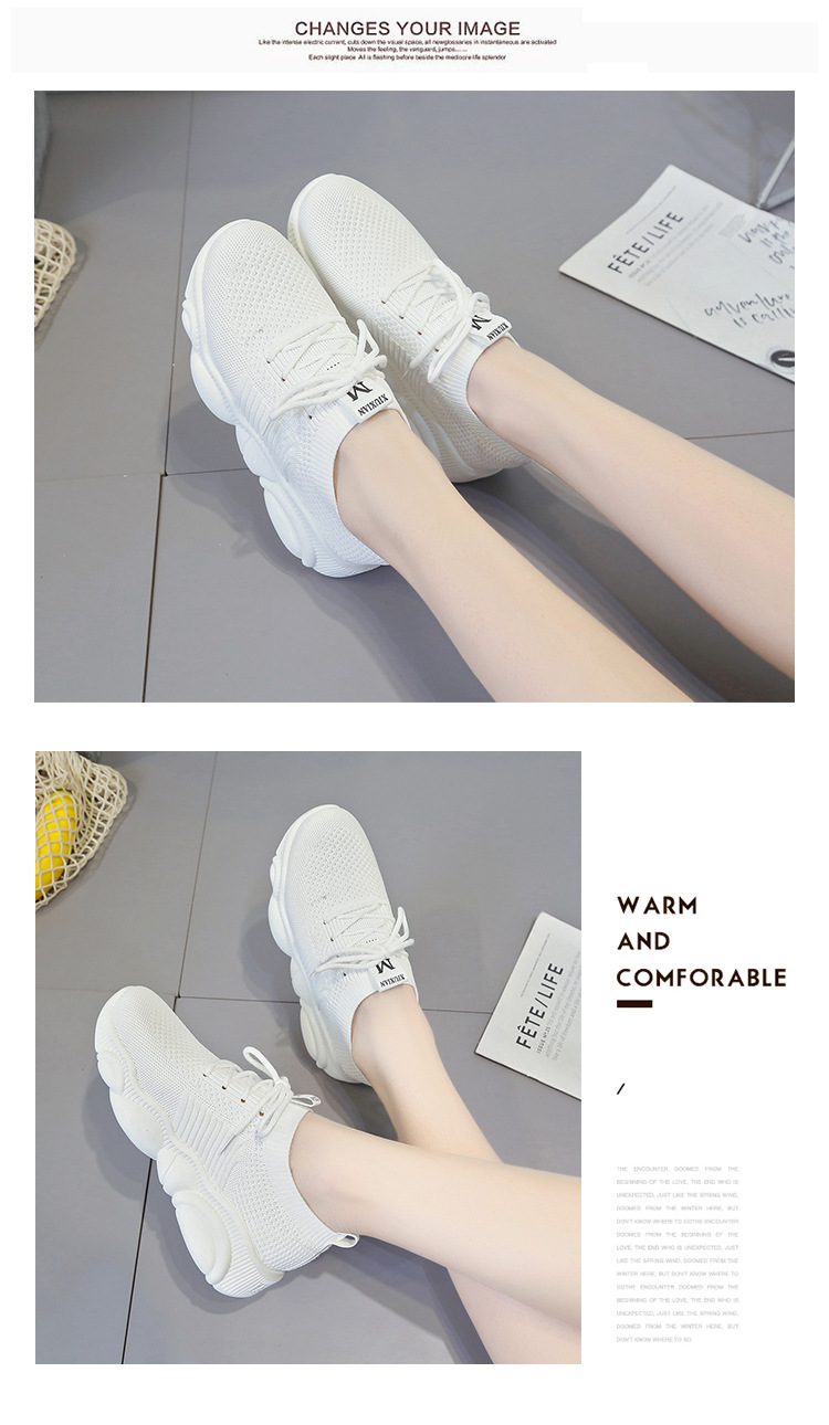 Breathable Women Casual Shoes Summer Lace Up White Platform Sneakers Fashion Soft Walking Flat Women Vulcanize Shoes New VT220 (6)