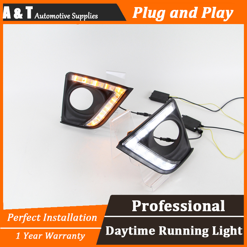 car styling For Toyota Carola 2014 LED DRL For Carola 2014 led fog lamps daytime running light High brightness guide LED DRL платья gioia di mamma платье персиковое с пайетками