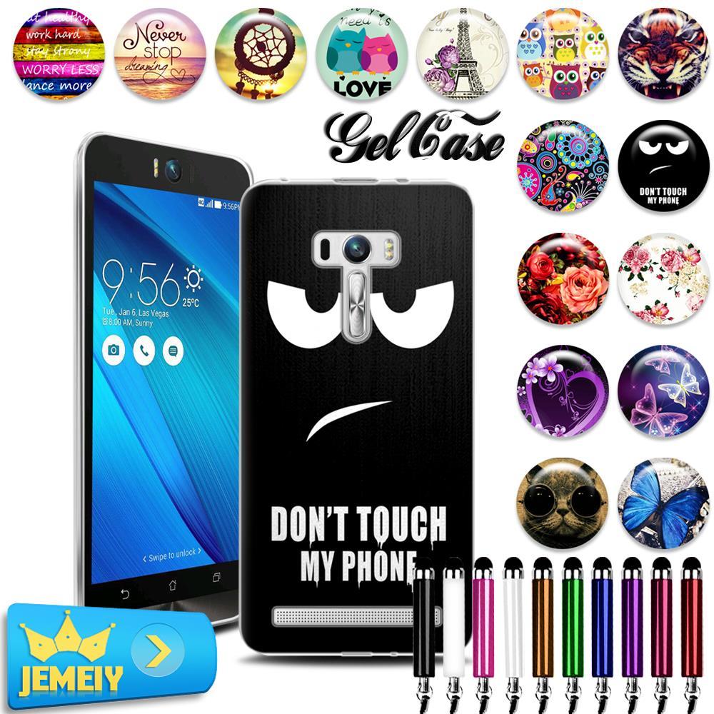 Original For Asus Zenfone Selfie Zd551kl 55 Case Tpu Gel Back 6 Cover Soft Silicone Bag Print Phone Cases Skin