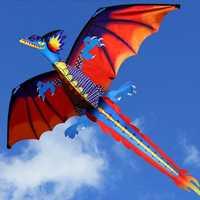 Nueva cometa de dragón 3D con cometas de cola para cometas adultas volando al aire libre 100 m LÍNEA DE cometa