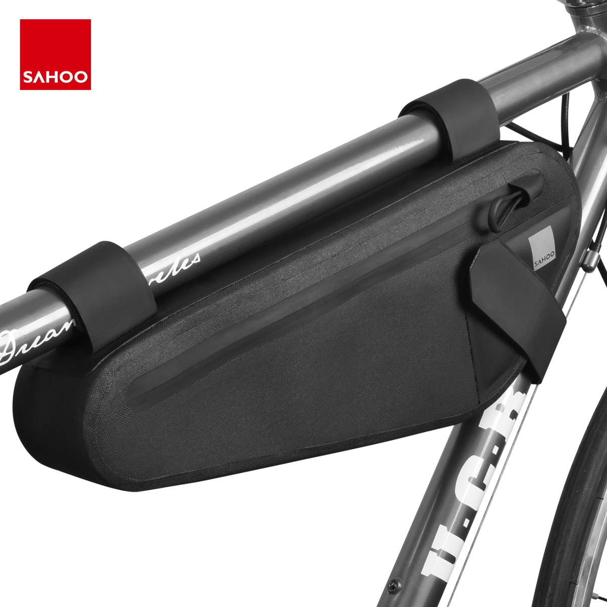 Bicycle Front Frame Bag Cycling Bike Tube Pouch Holder Saddle Panniers EH7E 02
