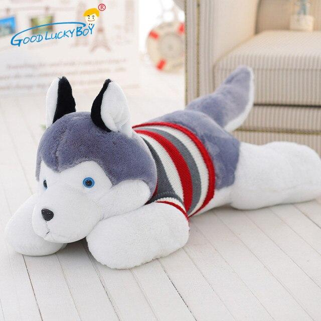 Pz cm farcito sveglio husky cane con il maglione peluche