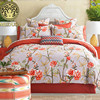 2016 Vintage Cotton Bed Linen King Queen Size Duvet Doona Cover Bed Sheet Pillow Cases 4pcs